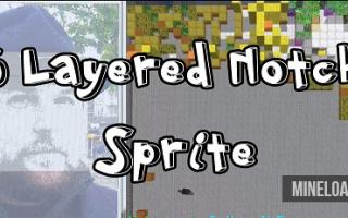 Карта 5 Layered Notch Sprite для Майнкрафт 1.12.2, 1.13