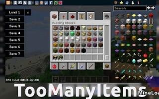 Мод TooManyItems для Майнкрафт 1.13