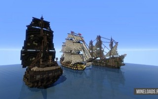 Карта Пиратские корабли для Майнкрафт 1.13.2, 1.12.2