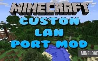 Мод Custom LAN Ports для Майнкрафт 1.12.2, 1.13