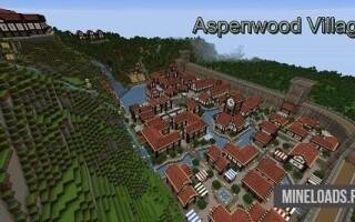 Карта Aspenwood Village для Майнкрафт 1.12.2, 1.13