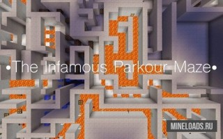 Карта The Infamous Parkour Maze для Майнкрафт 1.13, 1.12.2