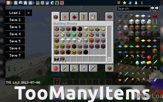 Мод TooManyItems для Майнкрафт 1.12.2, 1.13