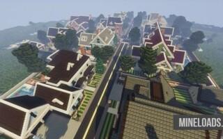 Карта 10 Загородных домов для Майнкрафт 1.12.2, 1.13