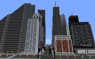 Карта Большой город для Майнкрафт 1.13.2, 1.12.2