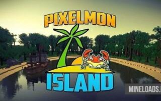 Карта Остров Pixelmon для Майнкрафт 1.12.2, 1.13