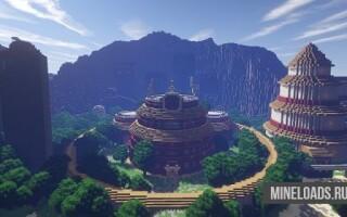 Карта Мир из аниме Наруто для Minecraft 1.12.2