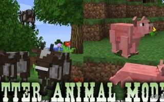 Мод Better Animal Models для Майнкрафт 1.12.2, 1.13