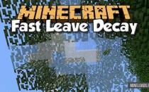 Мод Fast Leaf Decay для Майнкрафт 1.14.2